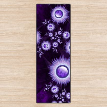 Purple Bliss Fractal Jewels Yoga Mat