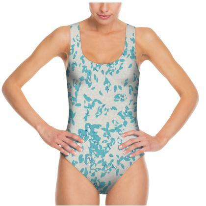 Swimsuit AQUA PETALS