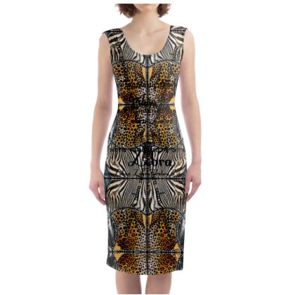 229,- Bodycon-Kleid ZEBRA  size L gnadenlos geil!