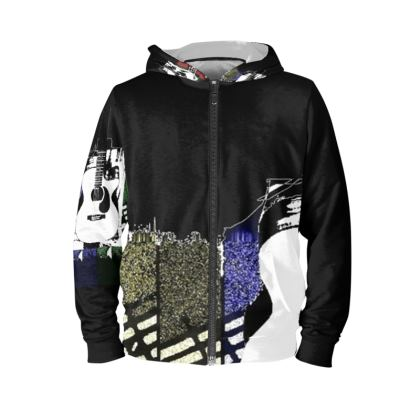 Guitar Hoodie.  Men's XS - 4XL  © Copyright Joanne Shaw.  All rights reserved.