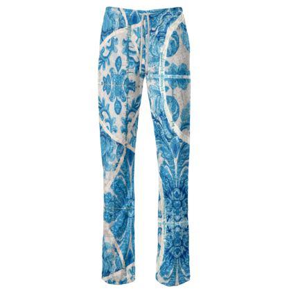229,- Damenhose in schillerndem Velours size M VENICE turquoise