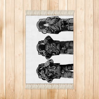 Three Space Monkeys Door Mat
