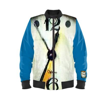Half Past Twelve Ladies BomberJacket. Sizes XS - 4XL same price. © 2018 Joanne Shaw.  All rights reserved.