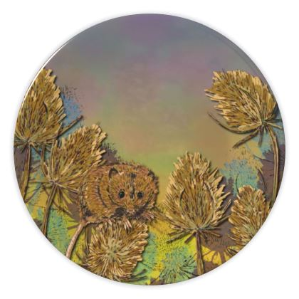 Harvest Mouse & Teasels China Plate