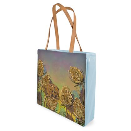 Harvest Mouse & Teasel Shopper Bag