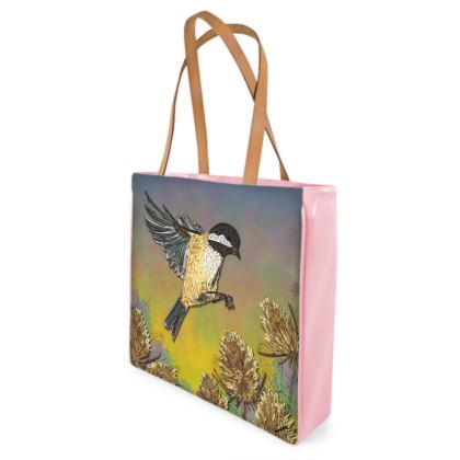 Coal Tit & Teasel Shopper Bag