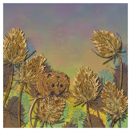 Harvest Mouse & Teasel Coasters