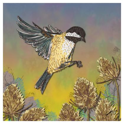 Coal Tit & Teasel Coasters