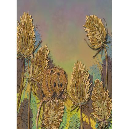 Harvest Mouse & Teasels Tray