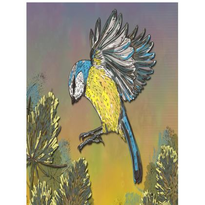 Blue Tit & Teasels Tray