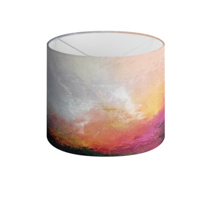 Drum Lamp Shade: Atmospheric Landscapes