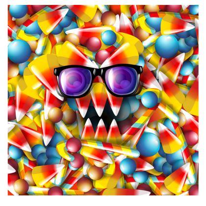 Girls Leggings Candy Monster