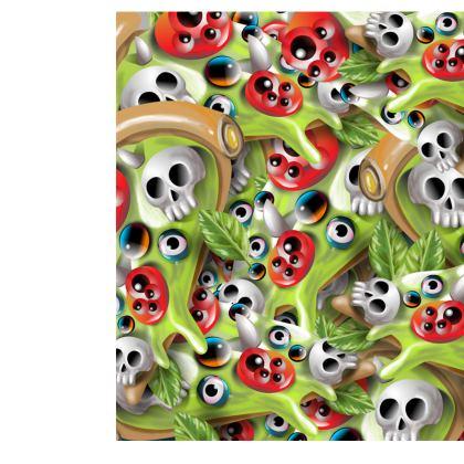 Girls Leggings Pizza Monster Pattern