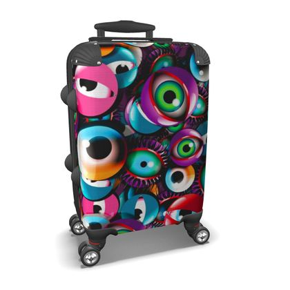 Suitcase Monster Eyes Party