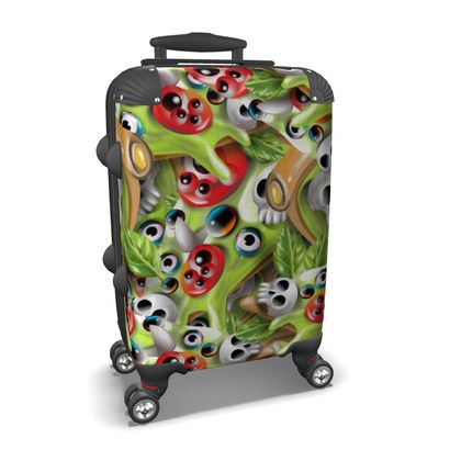 Suitcase Pizza Monster Pattern
