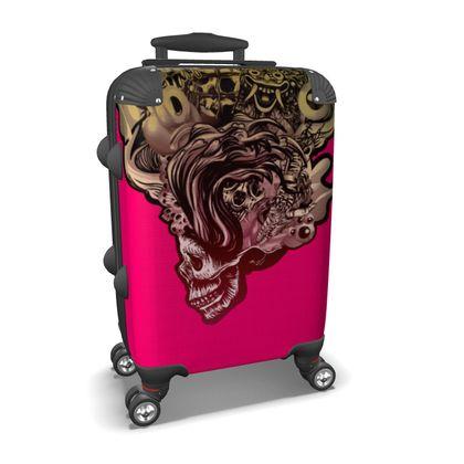 Suitcase Head Blown Skull