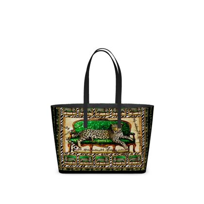 459,- Small luxury Tote Bag Nappaleder GREEN JAGUAR AFRICAANS