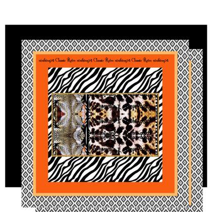 € 239,00 KIMONO MORGENMANTEL SIZE XL Kimono Morgenmantel XL sensationsseide retro Classic orange Black