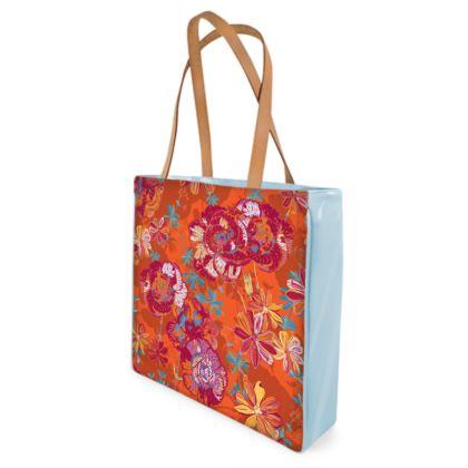 Carnation Carnival Floral Shopper Bag
