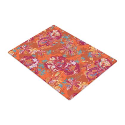 Carnation Carnival Floral Glass Chopping Board
