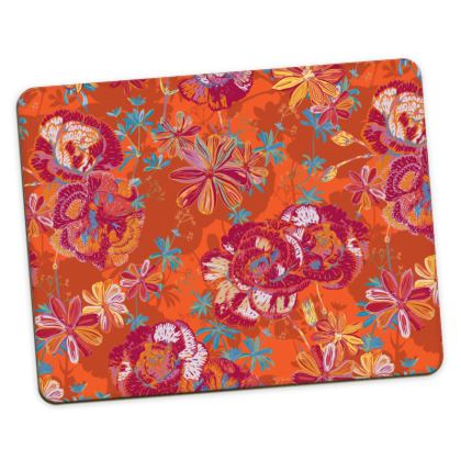 Carnation Carnival Floral Placemats