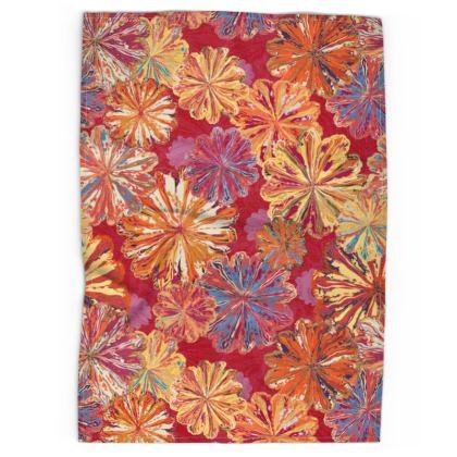 Poppytops Carnival Floral Tea Towel