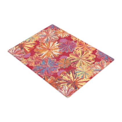 Poppytops Carnival Floral Glass Chopping Board