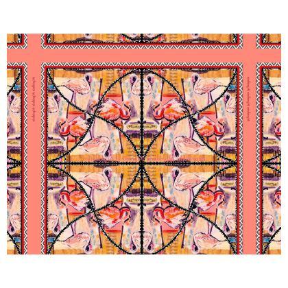239,- Kimono Morgenmantel im bezaubernden Flamingo Style ninibing34 DESIGN