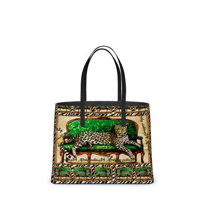 DESIGNER Tote Bag GREEN JAGUAR