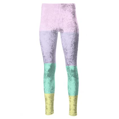 Sports and Fitness - Pastel Rainbow High Waisted Leggings.  © 2019 Joanne Shaw.  All rights reserved.