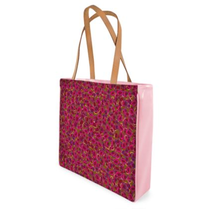 Pink & Red Circles Shopper Bags
