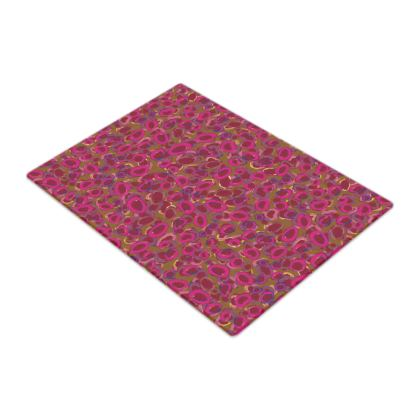 Pink & Red Circles Glass Chopping Board