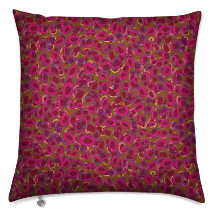 Pink & Red Circles Cushions