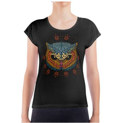 Owl Face Ladies T Shirt