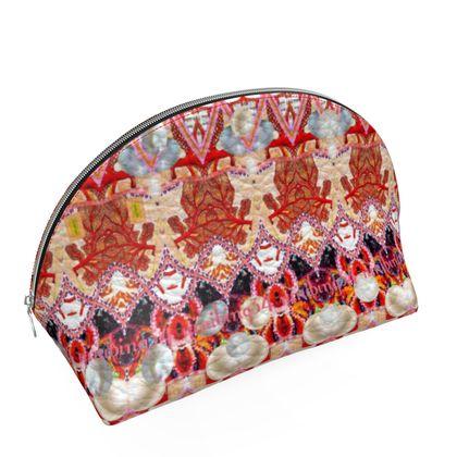97,- Muschelförmiges Täschchen Maxi size  14 x 20 x 11 cm. Nappaleder Pearls & Coral