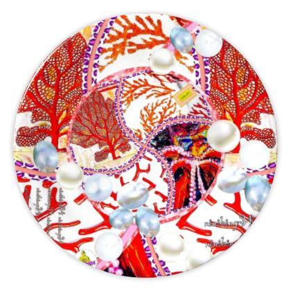 52,- Porzellanteller Pearls & Coral, Teller, China plate 20 cm ninibing34 DESIGN Porzellan Teller  49,- Atelier Preis