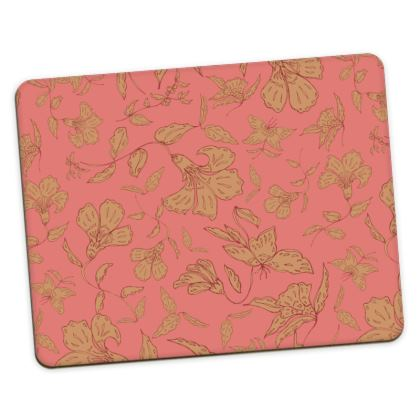 Tropical Coral Floral Placemats