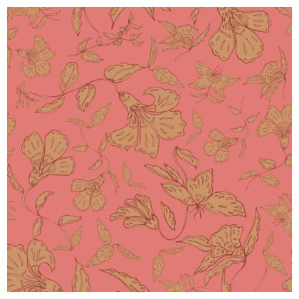 Tropical Coral Floral Coasters