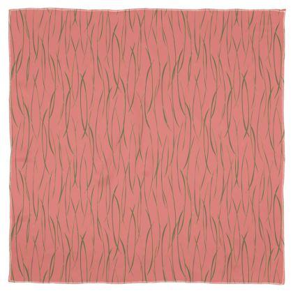 Coral Stripe Scarf Wrap or Shawl
