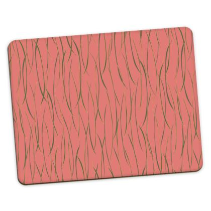 Coral Stripe Placemats