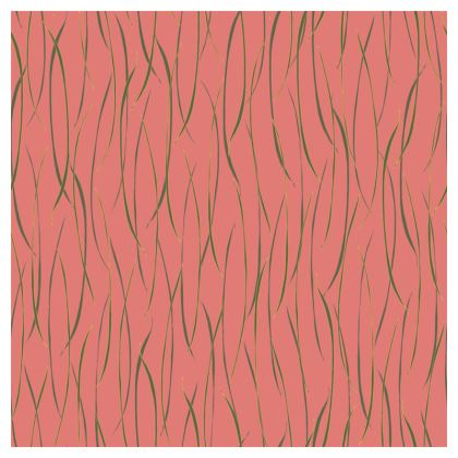 Coral Stripe Coasters