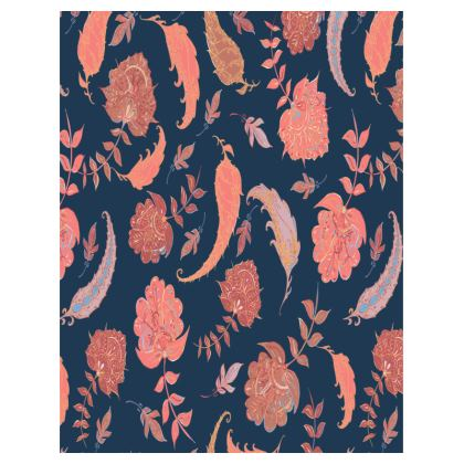 Patterns of Paradise (Coral & Blue) Tray