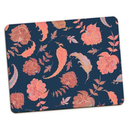Patterns of Paradise (Coral & Blue) Placemats