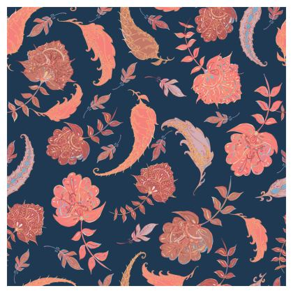 Patterns of Paradise (Coral & Blue) Coasters