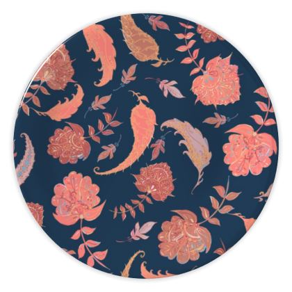Patterns of Paradise (Coral & Blue) China Plate