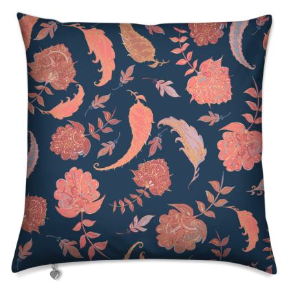 Patterns of Paradise (Coral & Blue) Cushions
