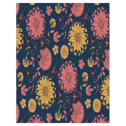 Multi-Florals (Coral & Blue) Tray