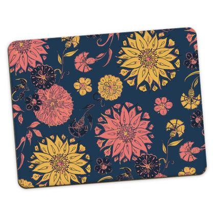 Multi-Florals (Coral & Blue) Placemats