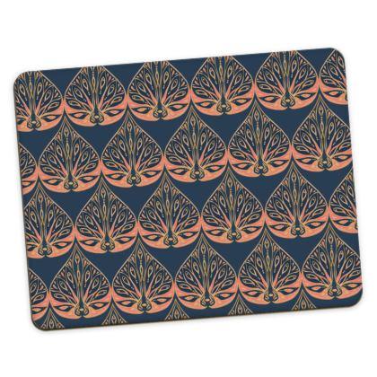 Art Deco (Coral & Blue) Placemats