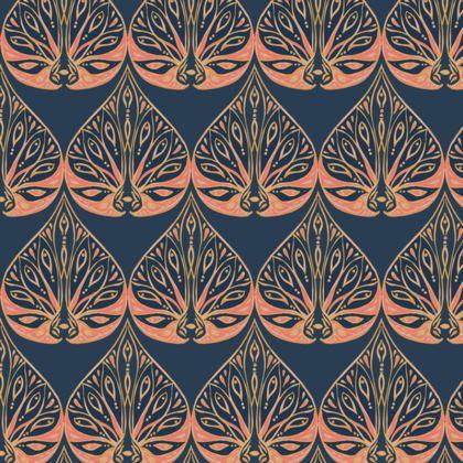 Art Deco (Coral & Blue) Coasters